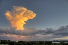 Thunderhead over Downtown Dallas  by Brandon Martin