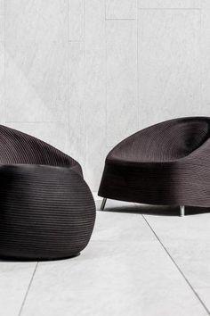 Modern outdoor black furniture