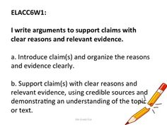 6th Grade ELA Common Core Standards for posting....