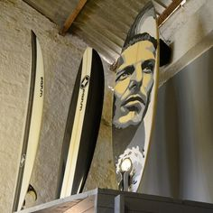 Surfing legend Andy Irons on a Surf board from Fatum in Peniche Portugal