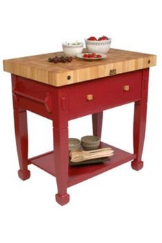 John Boos jasmine butcher's block in barn red, £849.99, Cookinstyle.co.uk