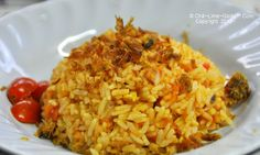 Tomato Rice made by yours truly.  Recipe at ChiliLimeGarlic.com!  Enjoy!