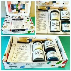 ✨NEW! Annie Sloan Mini Project Packs✨ The perfect holiday gift for any DIYer! This starter kit contains mini sizes of  Annie's top-rated products: 2 Chalk Paint® sample pots (your choice from all 32 colors), 2 mini cans of Soft Wax (in both Clear and Dark), and 1 Annie Sloan Small Oval paint brush! Jump start your projects with this handy kit!!  #letspaint #anniesloan #chalkpaint