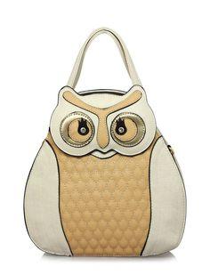 eb868f9681 UKFS 3D Shape Owl Booboo Handbag 34312 - Beige