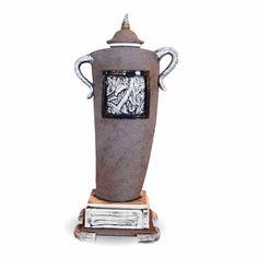 """""""Elephant Walk""""  Ceramic Jar by Barry Rosalind HAGE"""