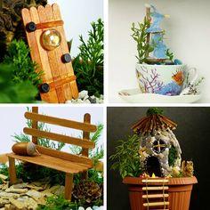 Precious Tips for Outdoor Gardens - Modern Indoor Fairy Gardens, My Fairy Garden, Miniature Fairy Gardens, Garden Art, Outdoor Gardens, Craft Night, 5 Minute Crafts, Beautiful Gardens, Decoration