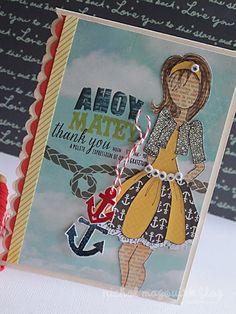 nichol magouirk: Ahoy Matey | Julie Nutting Doll Stamp Card - written tutorial