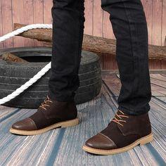 Fashion Design Autumn Platform Boots For Men British Style High ...