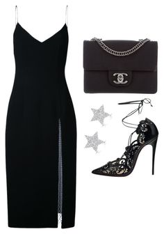 """""""Untitled #21925"""" by florencia95 ❤ liked on Polyvore featuring Christopher Esber, Christian Louboutin, Chanel and Diamond Star"""