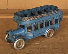 Arcade cast iron double decker bus, 8''