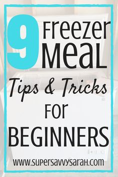 9 Freezer Meal Tips and Tricks for BeginnersI've been stocking my freezer with meals for 3 years now.  I've learned a lot; what works, what doesn't work, and even just how to make things work.  Getting to the point I am today was an evolution, it didn't happen overnight.  I currently stock my
