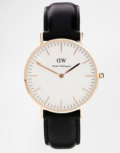 Image 1 of Daniel Wellington Classic Black Sheffield Rose Gold Rim Large Watch