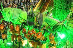 Rio de Janeiro's samba school Vila Isabel's dancers perform along the Sambadrome on the second day of the traditional city's samba school parade on February 12, 2013. (ANTONIO SCORZA/AFP/Getty Images)