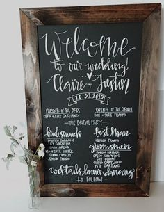 A smart alternate to the spendy wedding programs, make your own DIY program board! | 10 Things Your Wedding Guests Don't Care About | The Wedding Shoppe