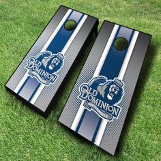 These Old Dominion Monarchs cornhole boards; dressed up with a sporty racing stripe design, are great for displaying collegiate pride...