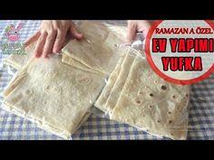 BUZLUKTA POŞET POŞET EV YAPIMI YUFKA 💯SÜREKLİ TAZE KALIR👌🏻👌🏻 - YouTube Turkish Recipes, Bread Recipes, Food Videos, Feel Good, Pasta, Food And Drink, Baking, Youtube, Recipe