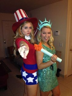Uncle Sam And Statue Of Liberty Costume.