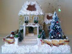 Make a Little square glitter house