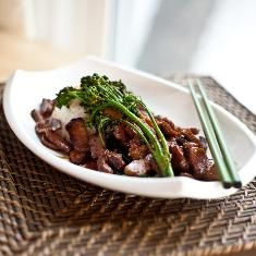 Seitan And Broccolini With Clementine Teriyaki (via www.foodily.com/r/Nrc3j4FnA)