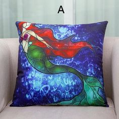 Sea mermaid pillow for girls Grimm's Fairy Tales sofa cushions design
