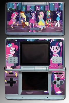 Amazon.com: My Little Pony Equestria Girls High School Cartoon Movie Film Video Game Vinyl Decal Skin Protector Cover for Nintendo DS: Video...
