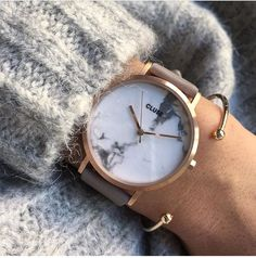 Montre Cluse Roche marble Rose Gold