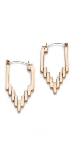 (Limited Supply) Click Image Above: Pamela Love Empire Hoop Earrings