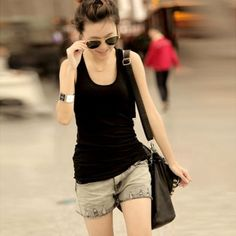 Mix Match Delicate Scoop Neck Solid Color Sleeveless Cotton+Polyester Vest For Women(Multicolor) Cheap Tank Tops, Clothing Sites, Black Vest, Sammy Dress, Mix Match, Scoop Neck, Plus Size, Fashion Outfits, Clothes For Women