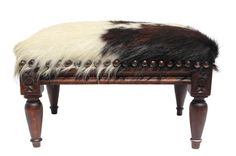 French Louis XVI Cowhide Footstool by TheCowPelt