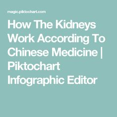 How The Kidneys Work According To Chinese Medicine | Piktochart Infographic Editor