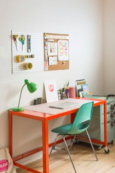 Spotted: TPS Mint File Cabinet || Retro California Home that Pops With Color via…