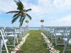Simple beach wedding set-up