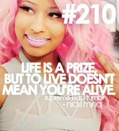 Nicki Minaj Quotes From Songs - Bing Imágenes Rapper Quotes, Bitch Quotes, Lyric Quotes, Words Quotes, Qoutes, Movie Quotes, Nicki Minaj, Favorite Quotes, Best Quotes