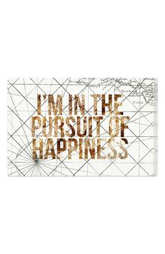 Free shipping and returns on Oliver Gal 'Pursuit of Happiness' Wall Art at Nordstrom.com. Map your way toward happiness with this hand-stretched canvas that makes an inspiring design statement.