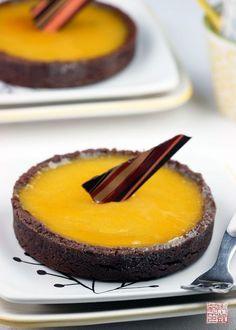 Chocolate Passionfruit Tarts