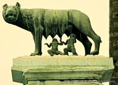 CAPITOLINE SHE WOLF with ROMULUS & REMUS - ROME