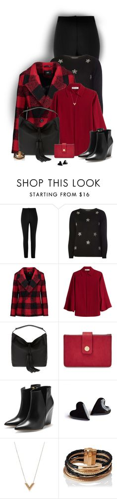 """""""Crimson Red"""" by sherry7411 on Polyvore featuring River Island, Dorothy Perkins, Line, Valentino, Rebecca Minkoff, FOSSIL, Rupert Sanderson, Louis Vuitton and L.K.Bennett"""