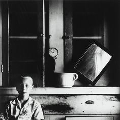 Ralph Eugene Meatyard Untitled (Boy with Clock and Mirror) c. 1960's