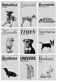 tipografía de perros