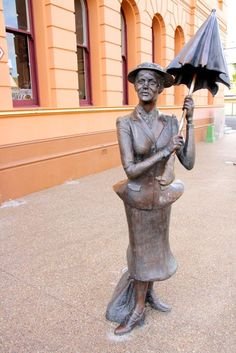 Mary Poppins books were written by Maryborough author and journalist P.L. Travers, hence the statue of Mary Poppins in Maryborough, Austrailia.