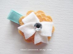 Baby/Girls Wool Felt Flower Hair Clip with by CharlieCocos on Etsy, $4.95