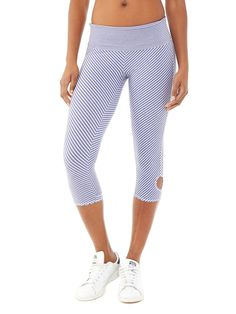02cbc51675b Cropped length leggings in 4-Way Stretch with wicking and antimicrobial  properties to keep you