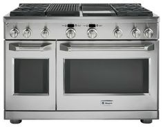 """GE Monogram 48"""" professional range with four gas burners, a grill and a griddle - traditional - gas ranges and electric ranges - GE Monogram..."""