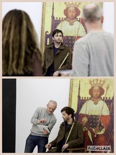 Behind the scene of David's photo shoot for RSC Richard II via RSC app