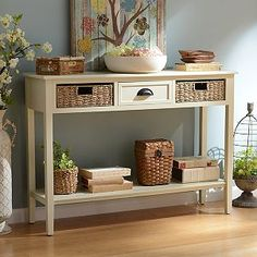 Cream 3-Drawer Storage Console Table | Kirklands