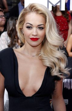 Old Hollywood side swept curls. Shop at Christells.com today! #hairstyle #prom #RitaOra #ChristellasXOXO