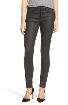 Madewell 'High Riser' Coated Skinny Jeans available at #Nordstrom