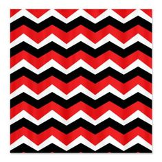 Black White Red Shower Curtain