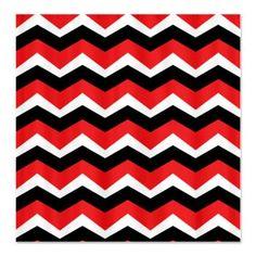 Black White Red Shower Curtain