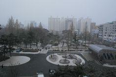 눈 내리는 당산근린공원